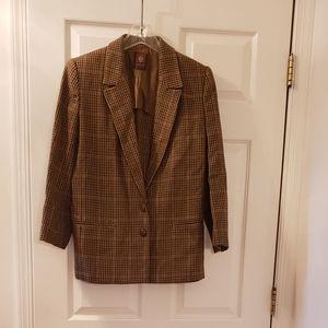 Vintage Anne Klein wool houndstooth check jacket